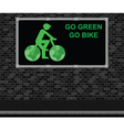 Bicycle advertising board vector image vector image