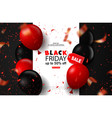 black friday sale background with balloons and vector image vector image