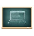 board laptop vector image vector image