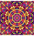 bright kaleidoscope pattern vector image vector image