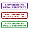 british indian ocean territory watermark stamp vector image vector image