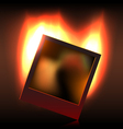 Burning memory in foto vector image vector image