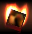 Burning memory in foto vector image