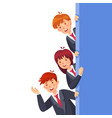 business people look out characters woman and man vector image vector image