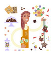 candy seller character vector image
