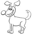 cartoon happy dog animal character coloring book vector image vector image