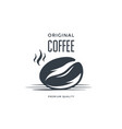 coffee bean label or emblem vector image