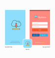 company cloud downloading splash screen and login vector image vector image
