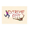 concept for extreme climbing festival with the vector image