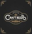 craft beer sticker label design vintage frame