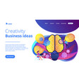 creativity and business ideas landing page vector image