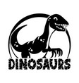 cute dinosaur icon vector image vector image