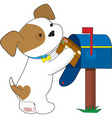 cute puppy mail vector image vector image
