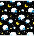 Cute sheeps and clouds chidren pattern