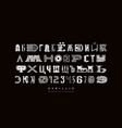 decorative cyrillic font different styles vector image vector image