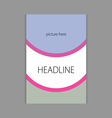 design headline cover book vector image