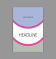 design headline cover book vector image