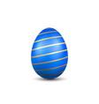 easter egg 3d icon gold blue egg isolated white vector image