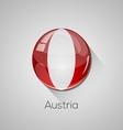 European flags set - Austria vector image