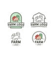 Farm logo set vector image