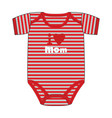 fashion clothes for newborn boy vector image