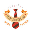 father day holiday isolated icon striped tie vector image