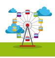 ferris wheel carnival fun fair festival circus vector image vector image