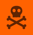 flat icon stylish background halloween skull bones vector image vector image
