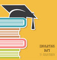 for education day greeting vector image vector image