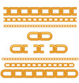 golden seamless chain vector image
