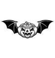 Halloween pumpkin with bat wings black