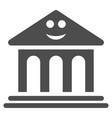 happy bank flat icon vector image