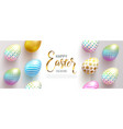 happy easter bannerfull love beautiful vector image