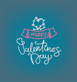 happy valentines day concept banner with linear vector image vector image