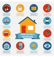 Home security infographic blocks composition vector image vector image