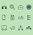 human icons set collection of bullhorn find vector image vector image