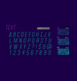italic typeface set vector image
