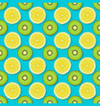 kiwi and lemon seamless pattern on blue background vector image