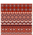 Knitted background in Fair Isle style in three vector image vector image