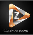 letter z logo symbol in the colorful triangle on vector image vector image