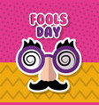 mask mustache glasses fools day vector image