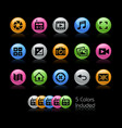 media interface icons - gelcolor series vector image