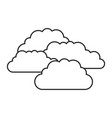 monochrome silhouette with set of clouds vector image vector image
