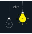 On and off bulbs in the dark Idea concept Flat vector image vector image