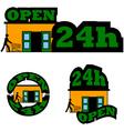 Open 24 hours vector image vector image