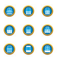 pane icons set flat style vector image vector image