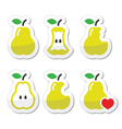 Pear pear core bitten half icons