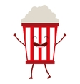 pop corn character cute icon vector image