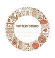pottery workshop ceramics classes banner vector image vector image