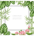 realistic beautiful tropical plants template vector image
